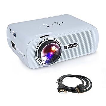 Proyector, Crenova XPE460 Mini Proyector LED con HDMI USB SD AC ...