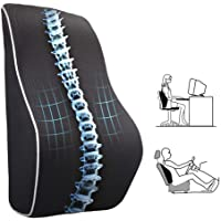 Memory Foam Lumbar Support Pillow, Breathable Mesh Back Cushion with Ergonomic Designed for low Back Pain Relief…