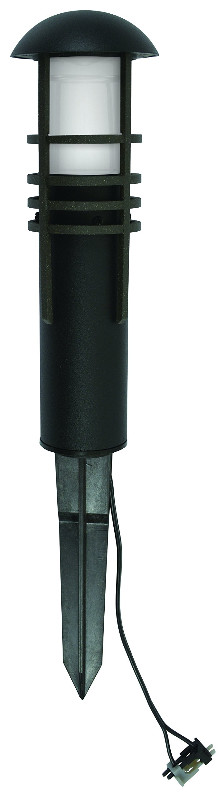 Outdoor Malibu LED Landscape Lighting 8400-4320-01 low voltage aged iron finish metal bollard light