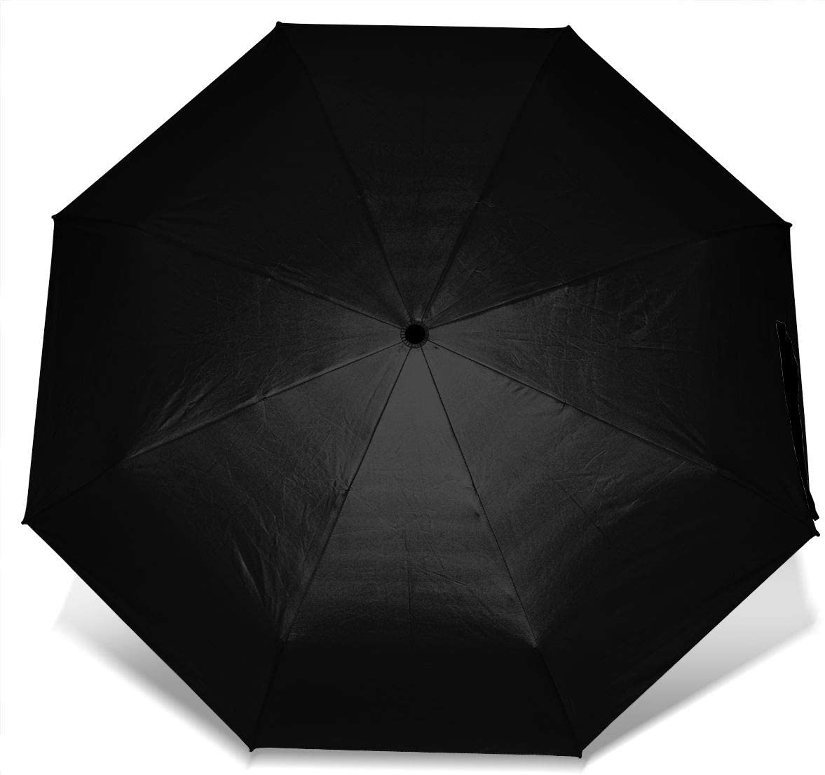 Panda Bamboo Windproof Travel Umbrella Manual Tri-fold Umbrella