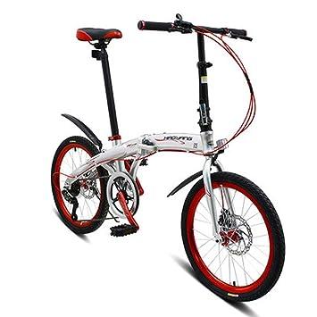 LETFF Bicicleta Plegable para Adultos De 20 Pulgadas, Aleación De Aluminio, Amortiguación De Velocidad