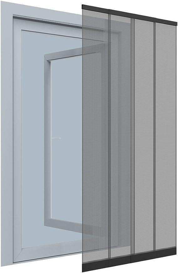 Mosquitera con 4 lamas telescópicas de aluminio negro (100 x 220 cm) – Protector de puerta, no requiere taladros – mosca y mosquitera de puerta: Amazon.es: Bricolaje y herramientas