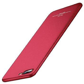 Para oneplus 5 carcasa - Sannysis oneplus 5 funda silicona (rojo)