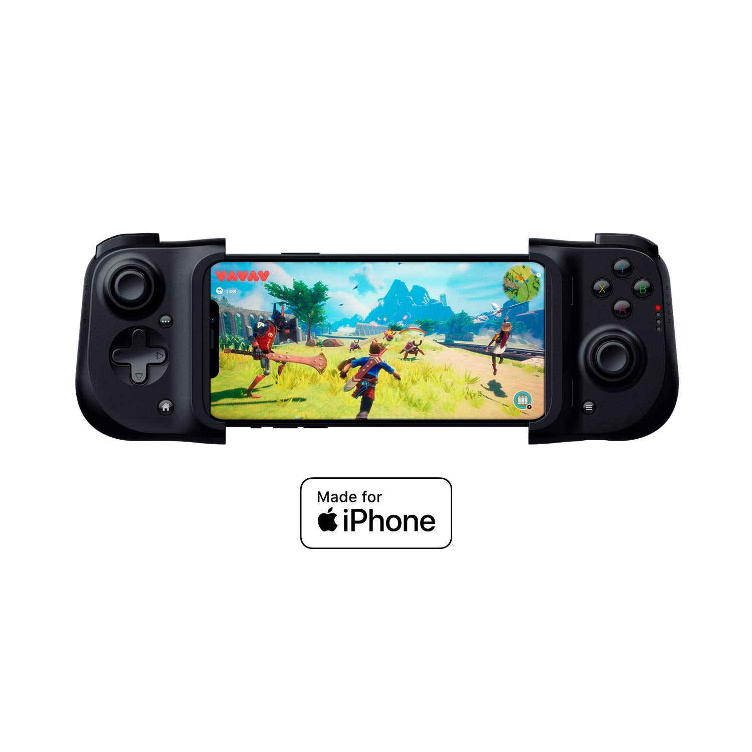 Razer Kishi Mobile Game Controller / Gamepad for iPhone iOS: Works with most iPhones – iPhone X and 11 - Apple Arcade - Lightning Port Passthrough Charging - Mobile Controller Grip - MFi Certified