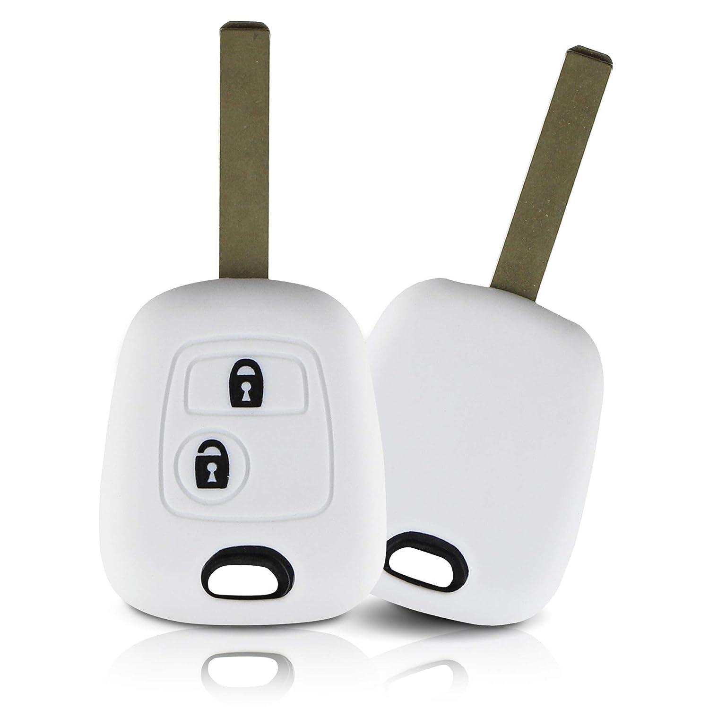 Vert Clair Couvercle de Protection pour cl/és de Voiture Couvercle pour Type de cl/é 2BK ASARAH Peugeot Couvercle de cl/é en Silicone Premium