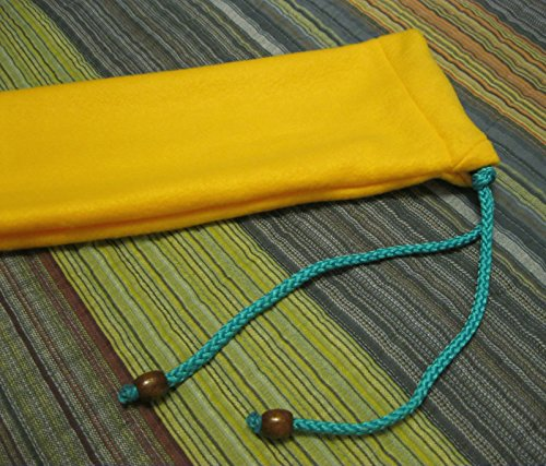 Native American Flute Bag - Beautiful Gold - Heavy Fleece - handmade