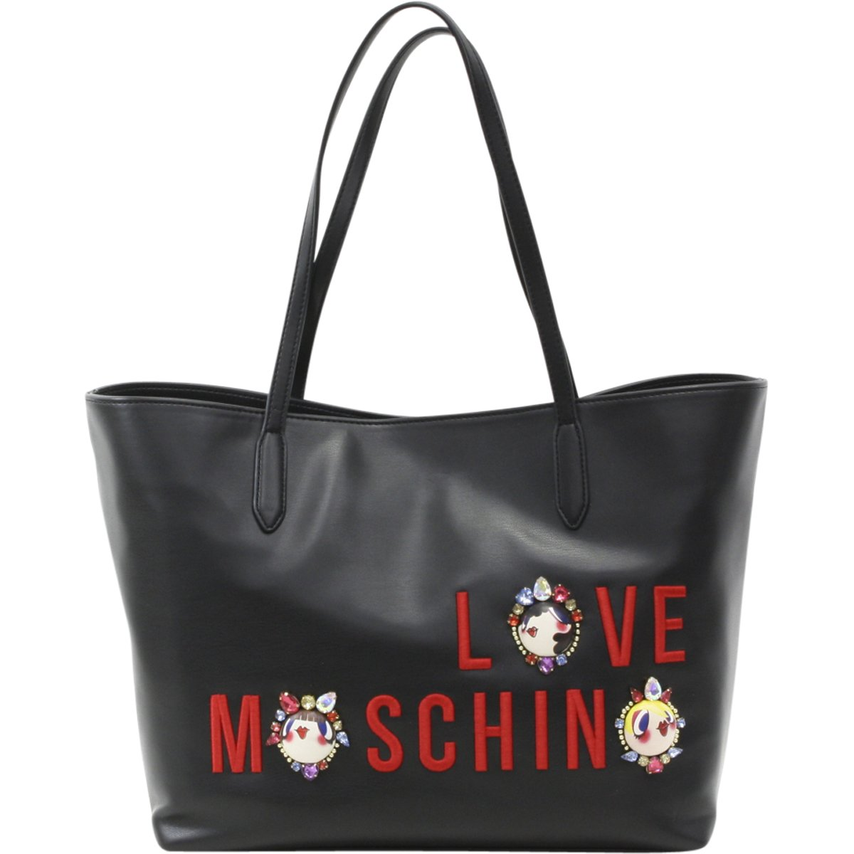 LOVE Moschino Women's Charming Girls Tote Black Handbag