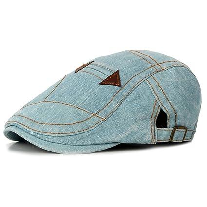 Scrox 1x Hombre Mujer Sombreros Gorras Boinas Moda Vintage Flat Cap Casual  Unisex Otoño Invierno Outdoor b438eed7425