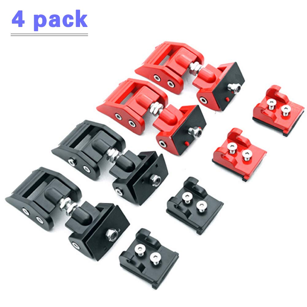 Hood Catch Jeep Wrangler - Original Hood Latches Hood Lock Catch Latches Kit for 2007-2018 Jeep Wrangler JK and JKU by Copotion (Image #1)