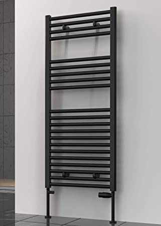Toallero de radiador curvo de lujo, color negro, escalera, calentador de toallas de calefacción central: Amazon.es: Bricolaje y herramientas