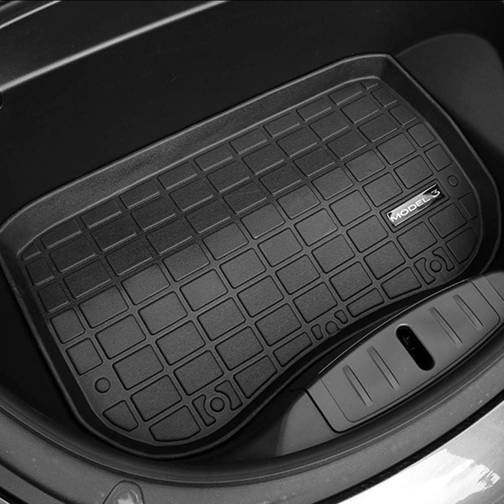 Semine Kofferraum//Kofferraummatte Ablagematte Allwetterschutz Hochleistungsgummimatte f/ür Tesla Modell 3
