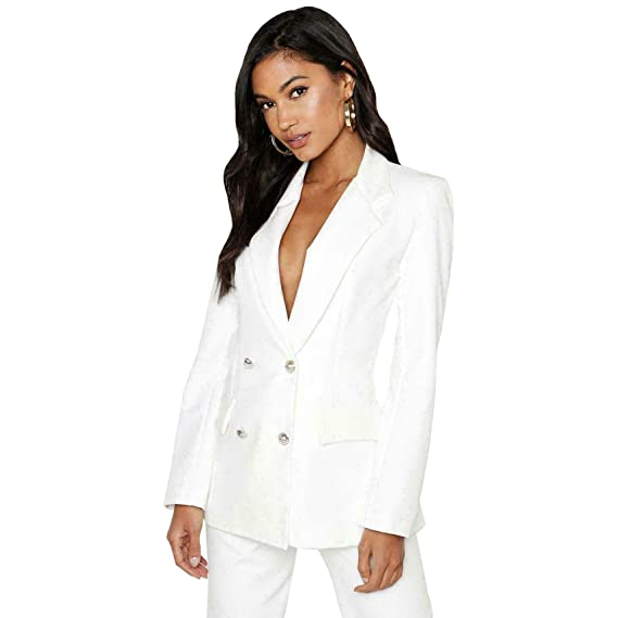 biggest discount best authentic great prices Veste Blazer Sexy à Double Boutonnage doré pour Femme Style ...