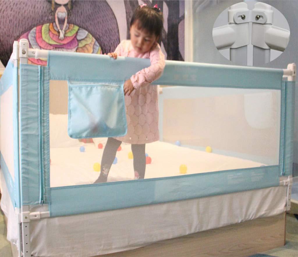 1.5-2M Casa de Juegos para ni/ños Prevenir la barandilla de la Cama CSQ Valla Protectora para ni/ños Aumento de la Cerca Transpirable Baby Crawl Cama Anti-ca/ídas Dormitorio en el Interior