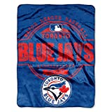 The Northwest Company MLB Toronto Blue Jays Structure Micro Raschel Throw, 46-Inch by 60-Inch
