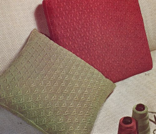 Vintage Crochet PATTERN to make - Midcentury Modern Upholstery Throw Couch Pillows 1940s 1950s. NOT a finished item. This is a pattern and/or instructions to make the item only. (For Crochet Couch Pillows)
