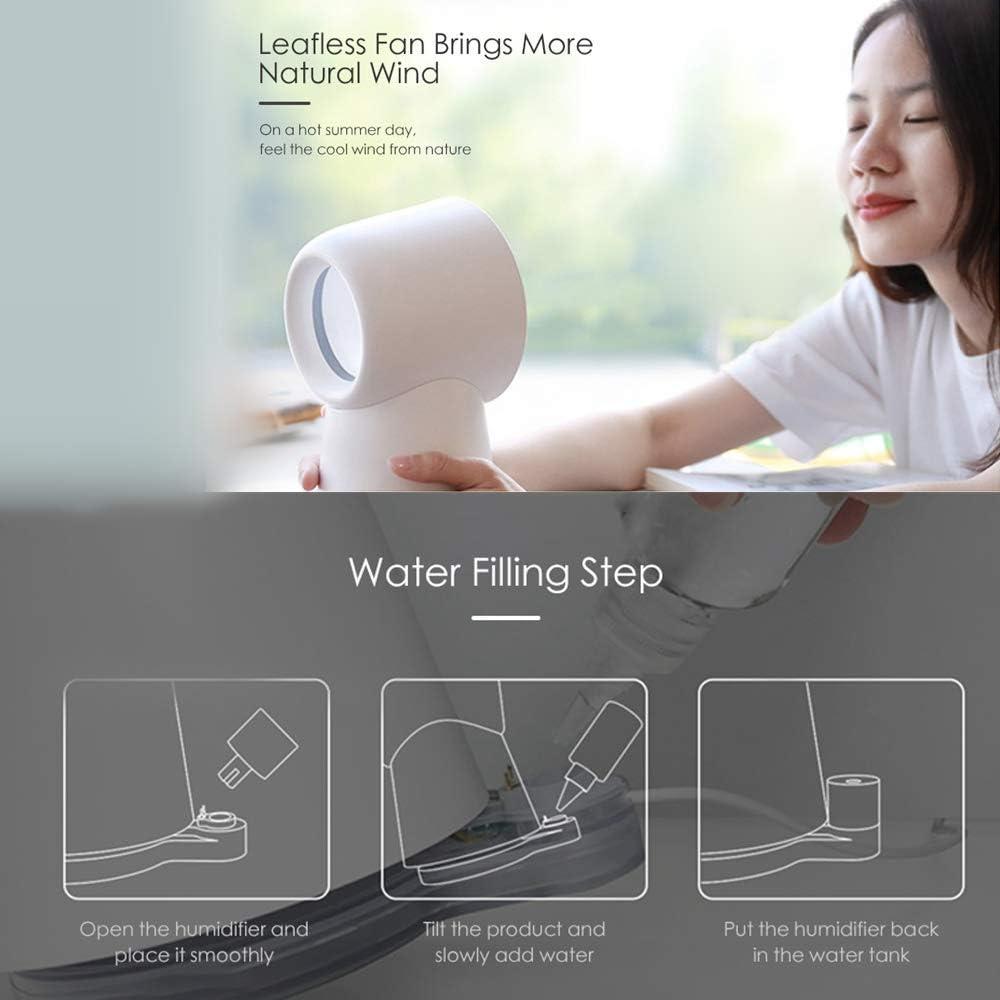 Ventilador de escritorio TANSHOP 3 en 1 con ventilador USB con luz ...