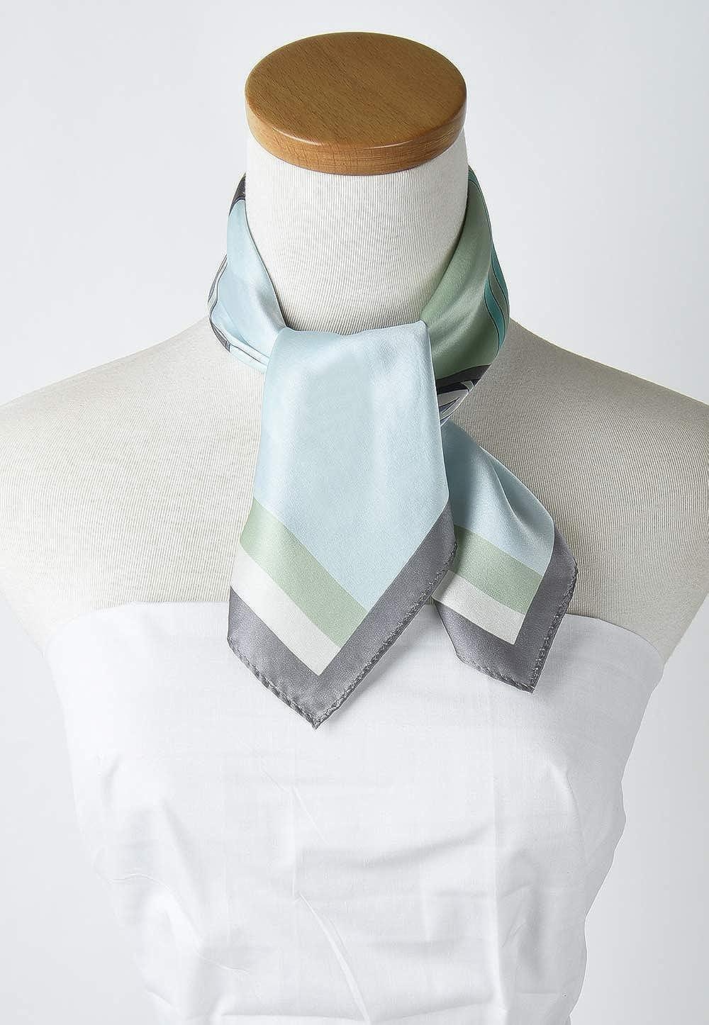 21 Inch Corciova 100/% Real Satin Small Square Silk Neck Scarf Scarves Neckerchiefs