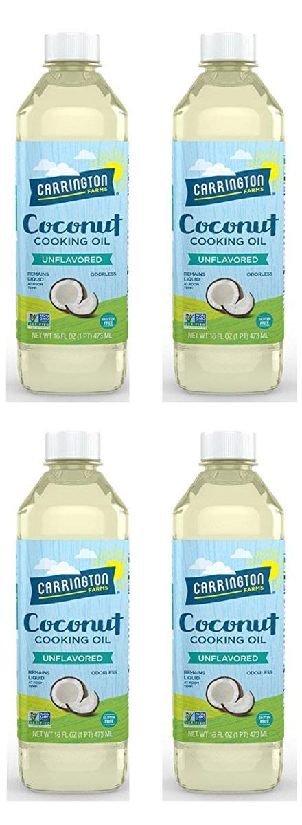 Carrington Farms Coconut Cooking Oil, 16 Ounce, 4 Pack by Carrington Farms
