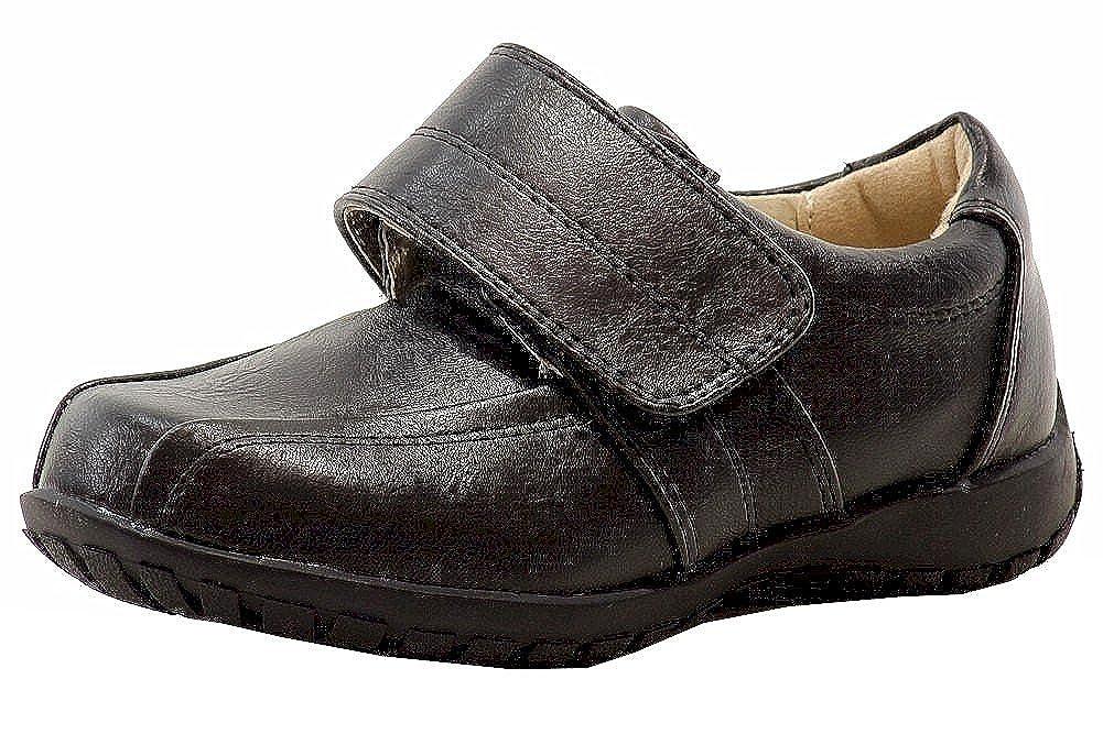 Easy Strider Boys Classic Fashion Black Loafer School Uniform Shoes