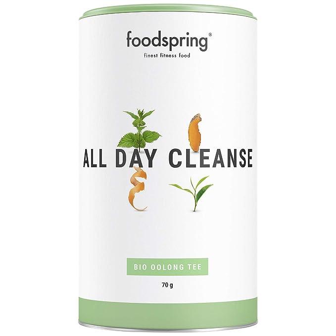 foodspring Bio Infusi Benessere, Tè All Day Purificante, 70g, Un tè di prima classe per tutta la giornata