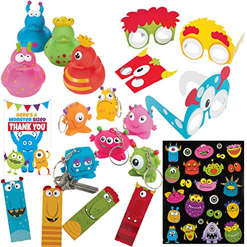 Monster Party Supplies - 116 Piece Kids Birthday