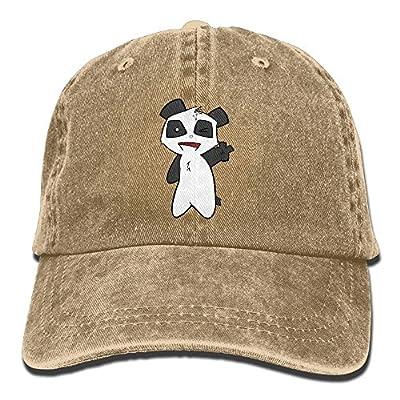 Unisex Panda Peace Baseball Cap Cotton Denim Hat Adjustable Snapback Sun Hat