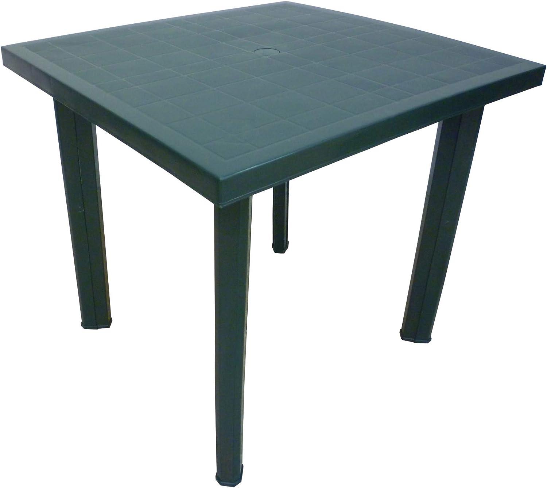 Mesa cuadrada de resina de plástico verde para exteriores Fiocco ...