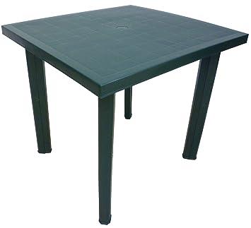 Tavoli Per Esterno In Resina.Sf Savino Filippo Tavolo Tavolino Quadrato In Resina Di Plastica