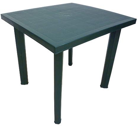 Tavolo Da Esterno Plastica.Sf Savino Filippo Tavolo Tavolino Quadrato In Resina Di Plastica Verde Fiocco Per Esterno Interno Giardino Balcone