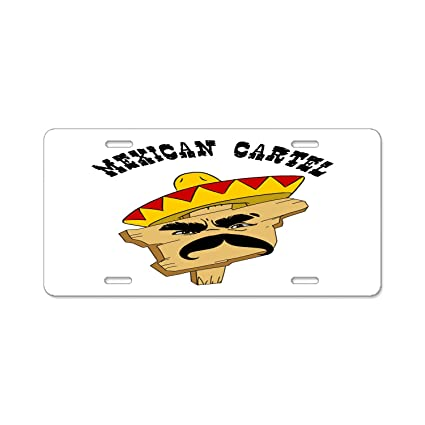 Amazon.com: Mexican Cartel License Plate Frame, Automobile ...
