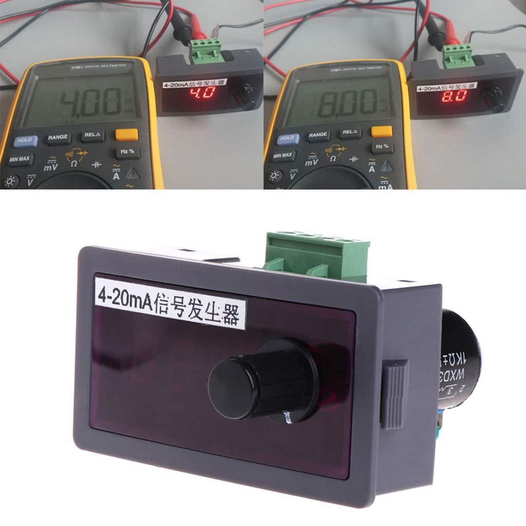 YiFeiCT Fuente de corriente del generador de se/ñales CC 12 V//24 V 4-20 mA con protecci/ón de polaridad