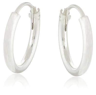 Buy Eloish Pure 925 Sterling Silver Bali Earrings For Men And Women