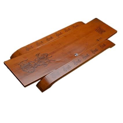 YHBH Kung Fu Tea Table Decoraciones decorativas Bandeja Vintage Patrón Escultura de madera Hogar/Oficina