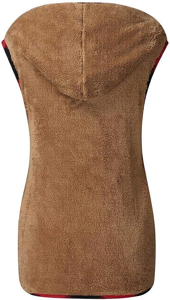 Winter Warm Short Faux Fur Coat Jacket Sleeveless Vest Outerwear Cloudro ❤️ Women Sweater