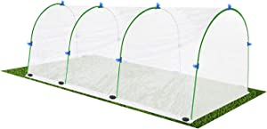 Little kuku Garden Tunnel Greenhouse Hoops Plant Cover, PE Film Tunnel for Outdoor Planting
