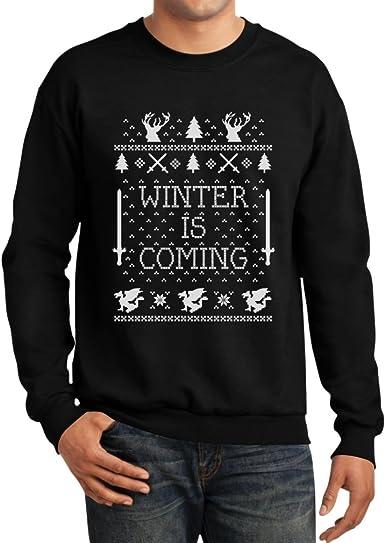 Mens Our Team Long Sleeve Screen Print Hooded Fleece Pullover Christmas