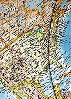 2018 World Maps Diary - teNeues Large Magneto Diary - Illustrations - 16 x 22 cm