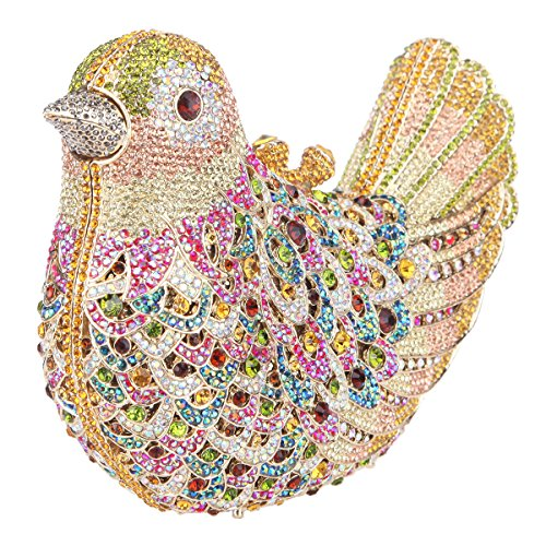 Evening Bird Yellow For Purses Bonjanvye Bag Clutch Glitter Rhinestone Blue Girls qSEAxwWTX