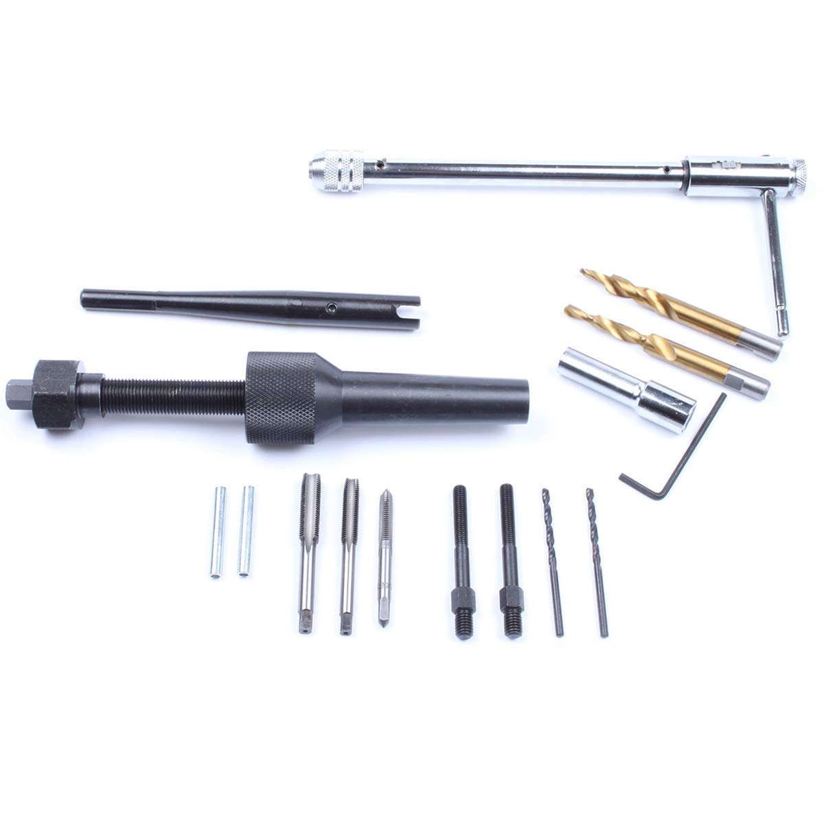 Ctool 16pcs Glow Plug Removal Remover Tool Set 8mm 10mm Damaged Damage Extractor Tool Kit