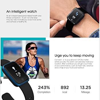 Zeblaze Crystal 2 Smart Watch 1.29-Inch IPS Color Display IP67 Waterproof Heart Rate Monitor Fitness Tracker Sports Wristwatch for Android/iOS