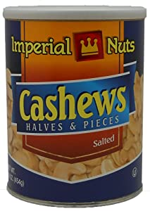 Imperial Nuts Cashew Halves and pieces, 16-Ounce