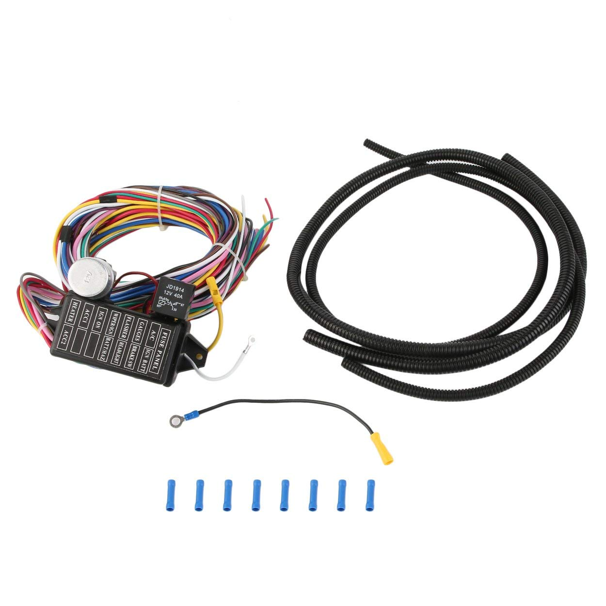 Fine Universal 12 Pcs Wiring Harness Professional 12 Circuit Car Wires Wiring Digital Resources Remcakbiperorg