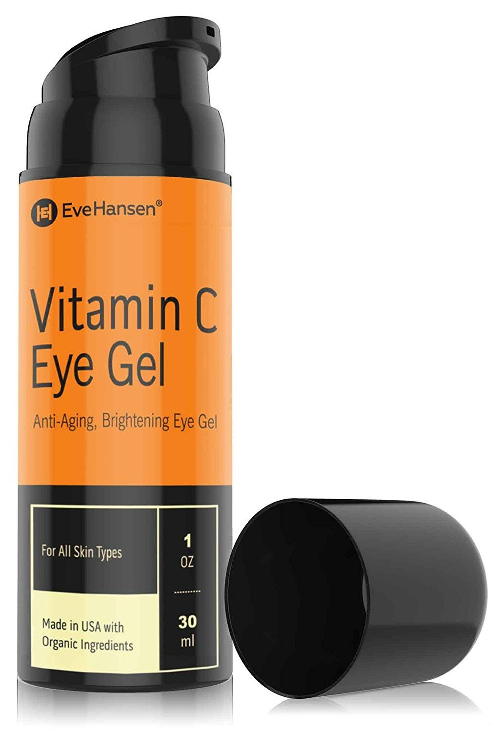Vitamin C Eye Gel by Eve Hansen. Defying Treatment for Dark Circles, Puffiness and Wrinkles! 1 Ounce.
