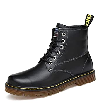 Zapatos de Hombre Hombres Botas Mujer, Otoño Invierno Botines de tacón bajo Zapatos con Cordones Moda Hombres Zapatos Casuales Botas Martin Botas de Moda ...