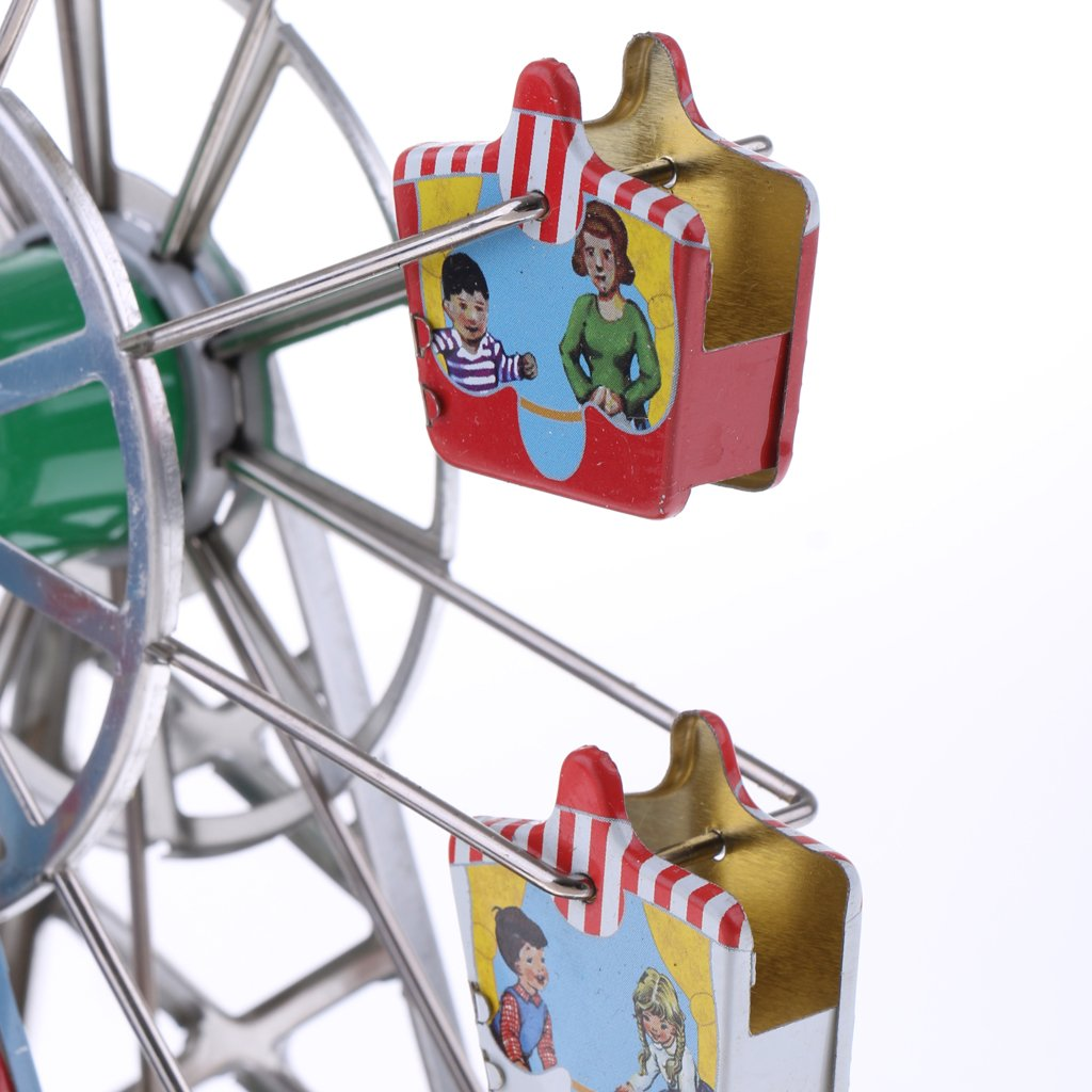 Dovewill Retro Wind up Spinning Ferris Wheel with Music Movement Clockwork Metal Tin Toy Collectible Gift by Dovewill (Image #6)
