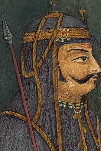 Maharana Pratap - An Austere Portrait - Watercolor on Paper