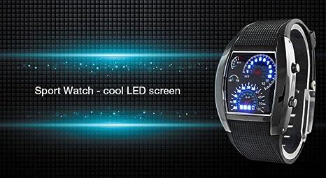 Unisex reloj de los deportes reloj de estilo LED Digital reloj de pulsera Reloj fresco único reloj de moda reloj (Brown): Amazon.es: Relojes