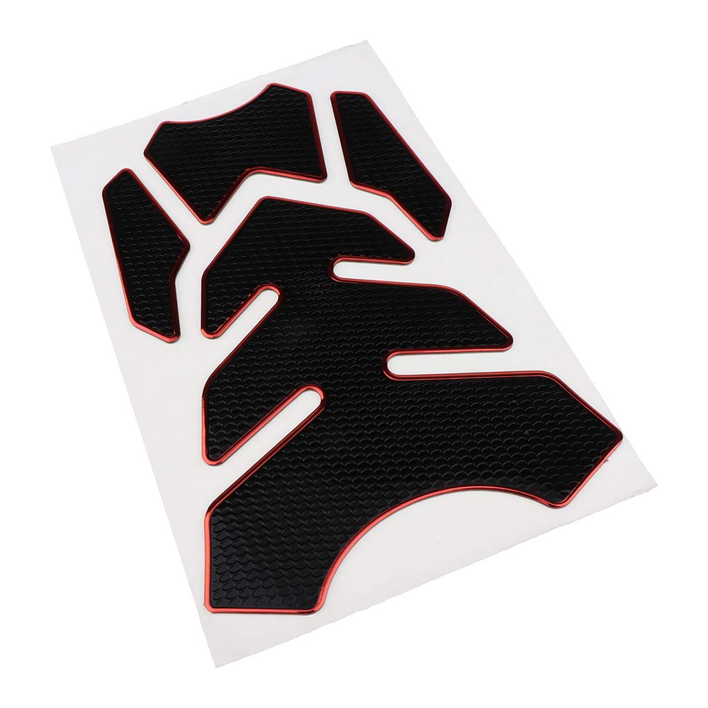 Almencla Carbon Style Tank Pad Motorcycle Tanks Protector Black