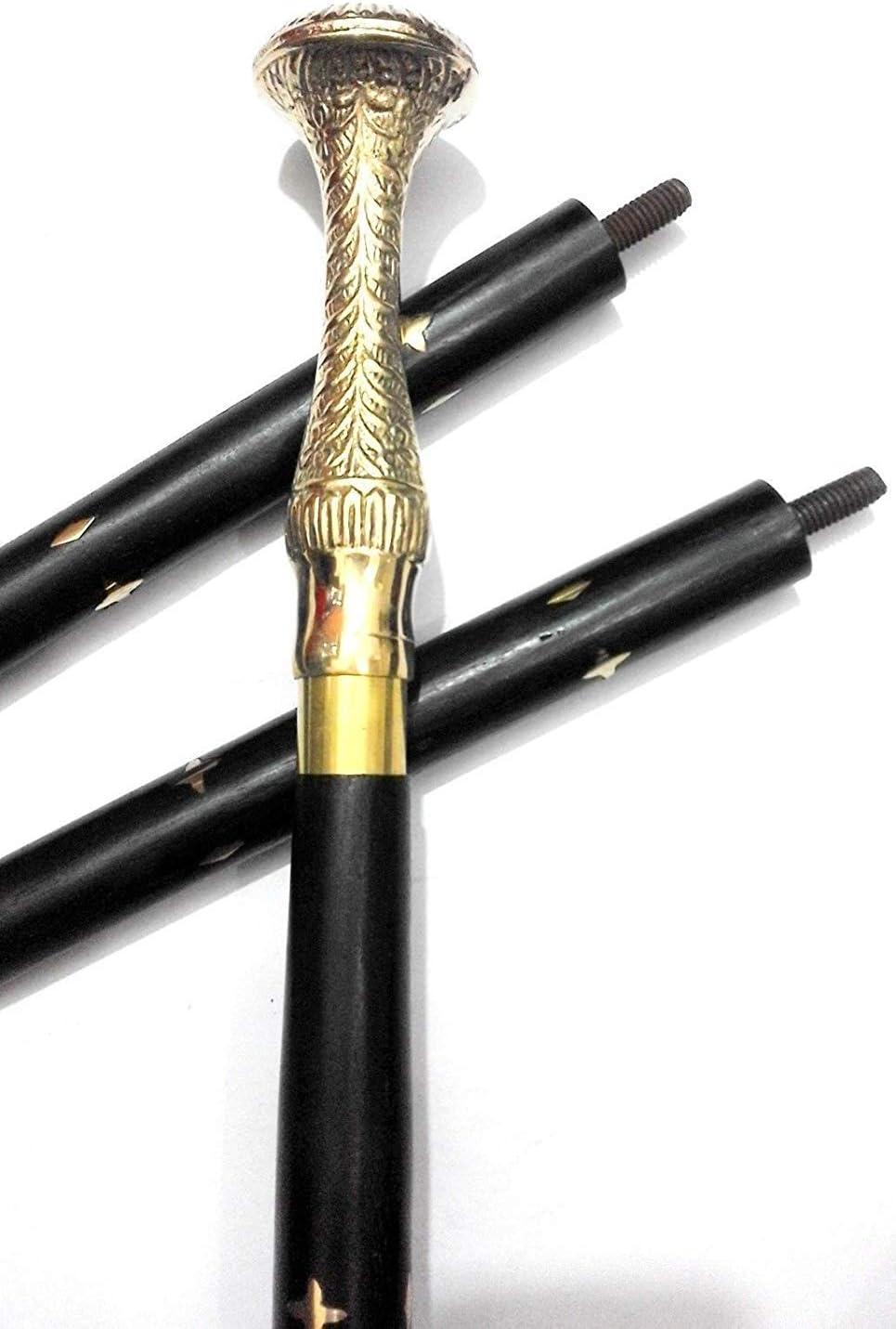 Solid Brass Designer Ball Handle for Cane Wooden Walking Victorian Sticks Gift