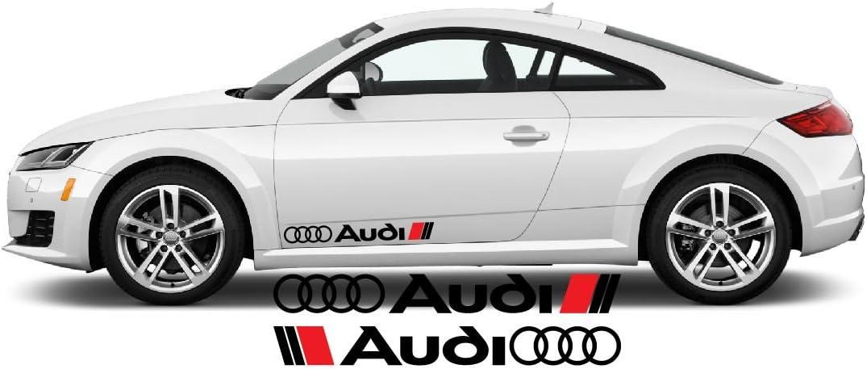 Tuning Hoonigan A1 A3 A5 A6 TT Q3 Q5 Quattro Artstickers4U Seitendekor Aufkleber passt zu Audi Auto Car Windschutzscheiben Heckscheiben Sticker Plus Schl/üsselringanh/änger aus Kokosnuss-Schale